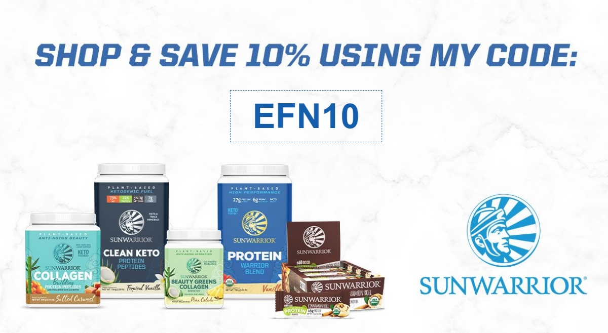 """Sunwarrior brand products with Promo Code """"EFN10"""" to save 10%"""