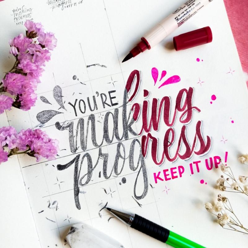 An encouraging phrase